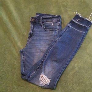 Rockstar super skinny ankle jeans